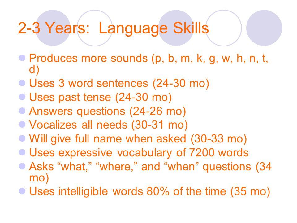 2-3 Years: Language Skills