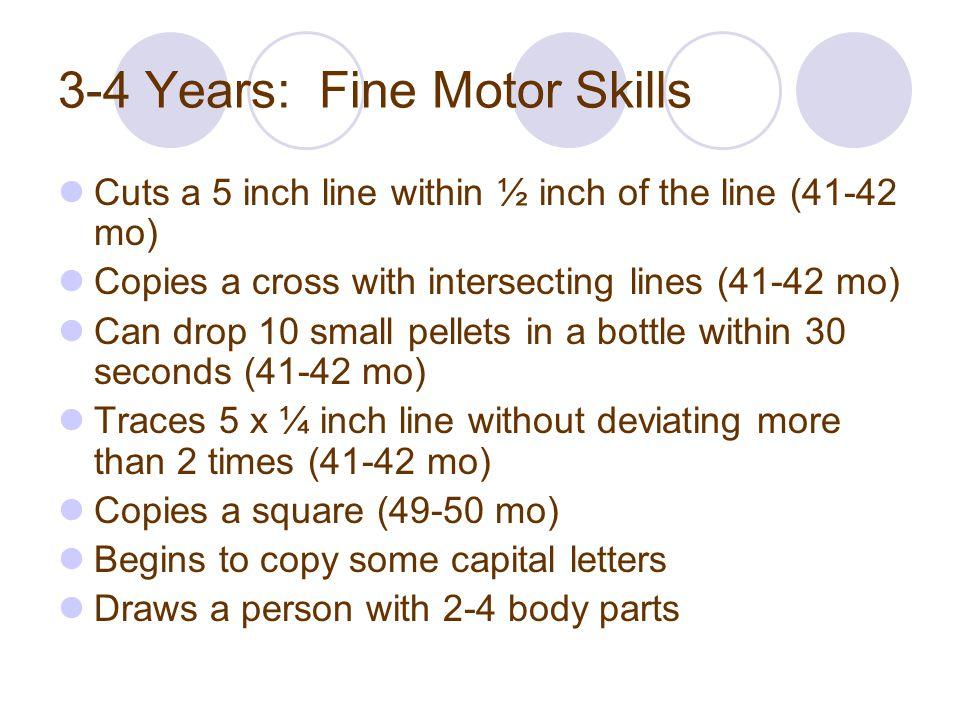 3-4 Years: Fine Motor Skills