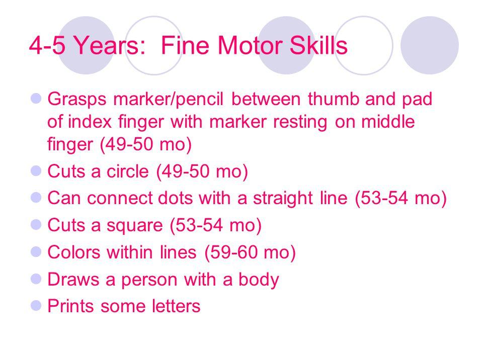 4-5 Years: Fine Motor Skills