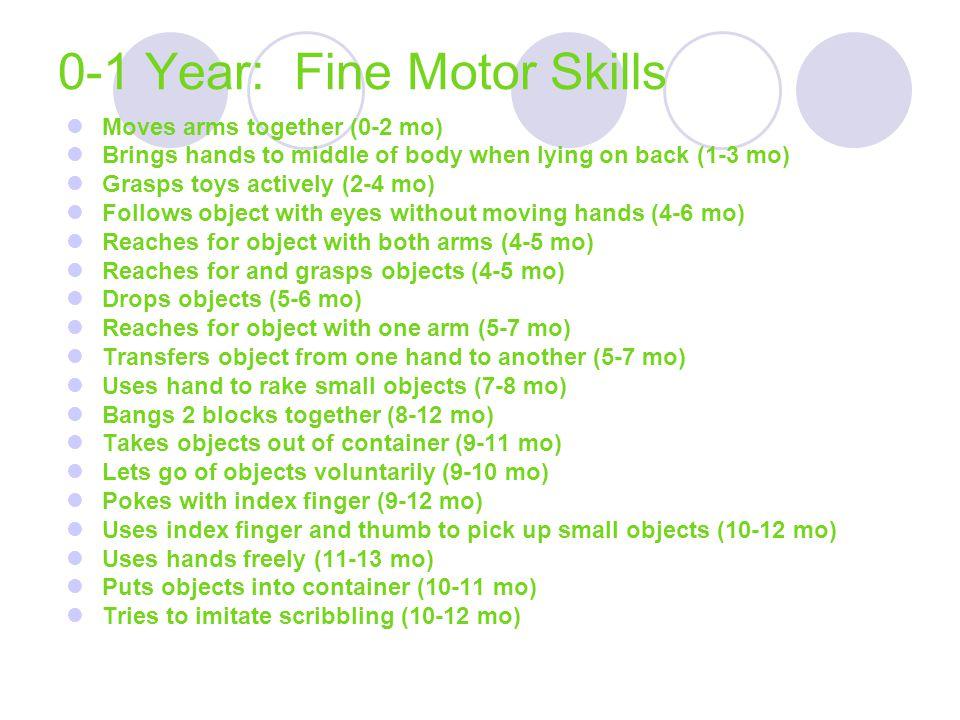 0-1 Year: Fine Motor Skills