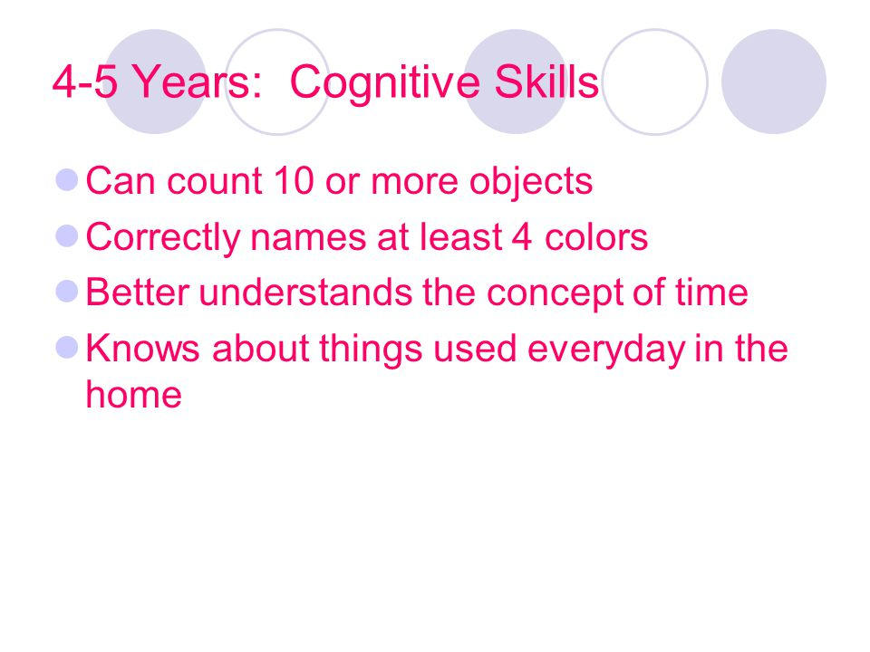 4-5 Years: Cognitive Skills