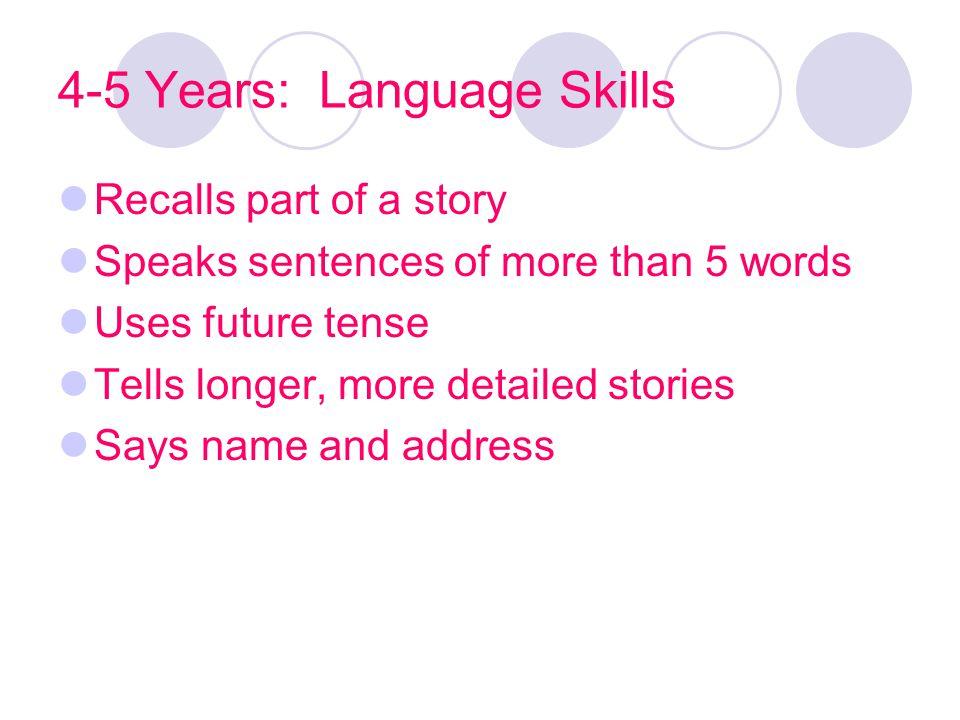 4-5 Years: Language Skills