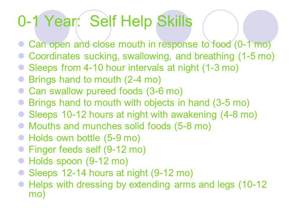 0-1 Year: Self Help Skills