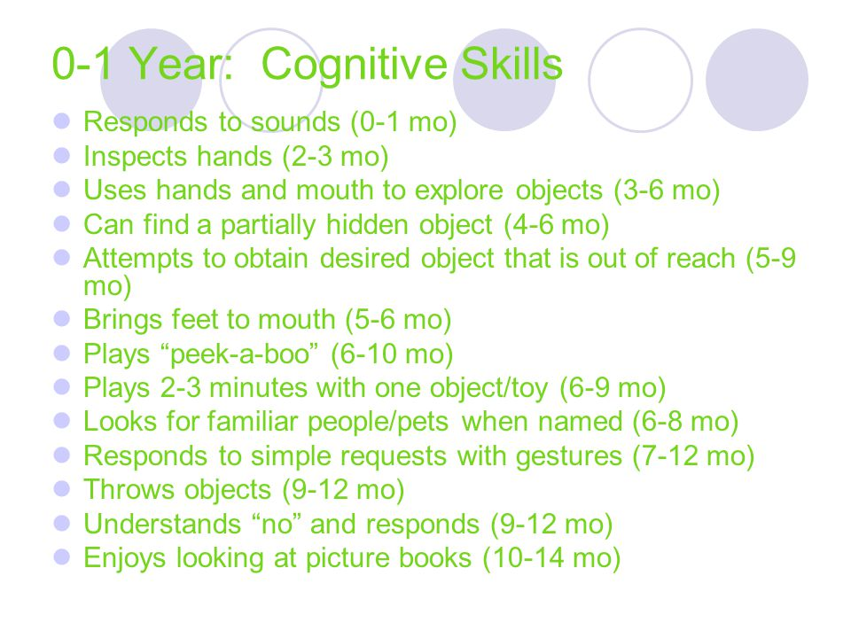 0-1 Year: Cognitive Skills