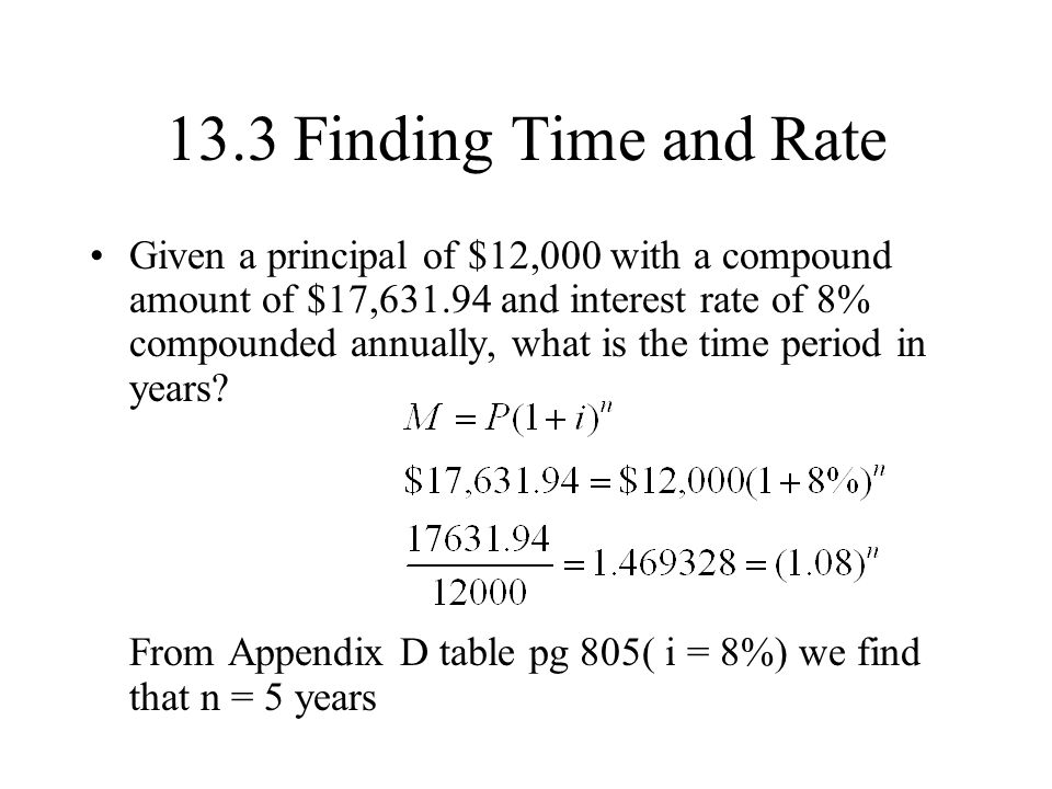 13.3 Finding Time and Rate