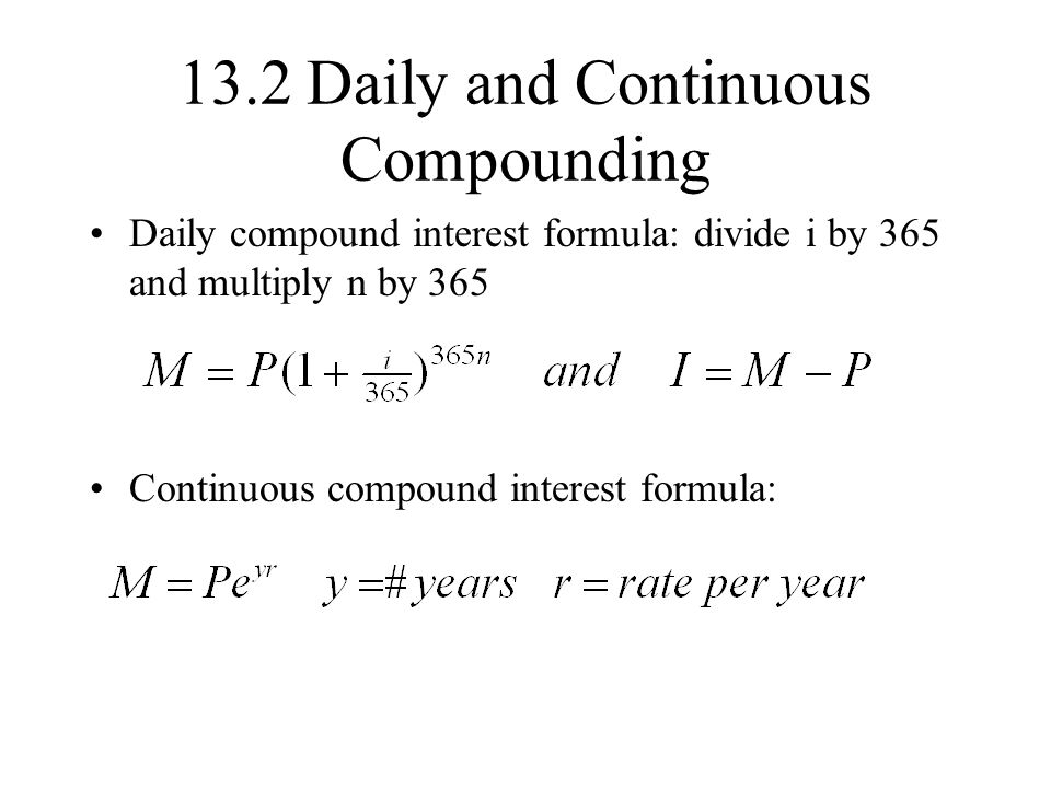 is the compound interest formula such as would be used to calculate a car loan an example of a funct Free compound interest calculator to convert basic compound interest basic formula for although e is widely used in many areas such as probability.