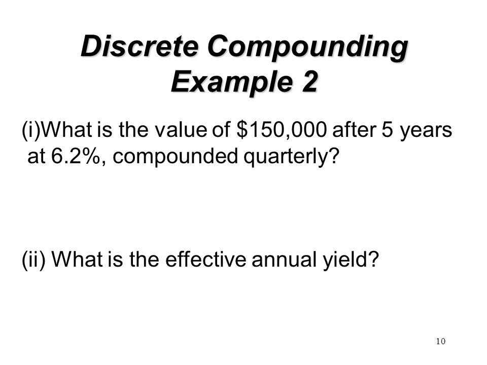 Discrete Compounding Example 2