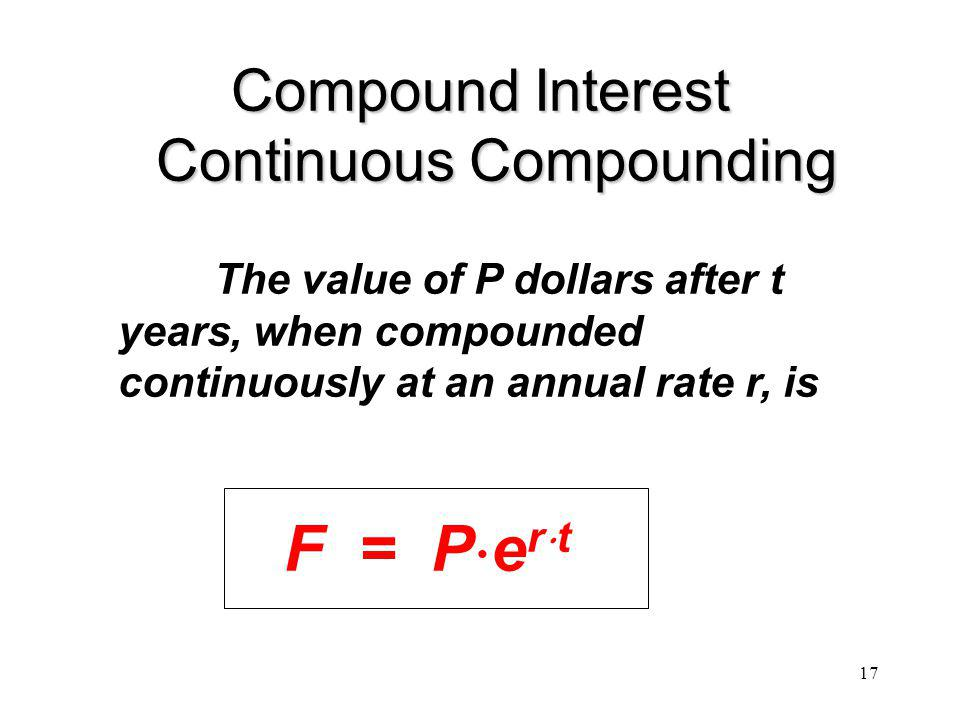 Compound Interest Continuous Compounding