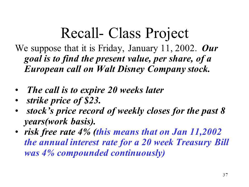 Recall- Class Project