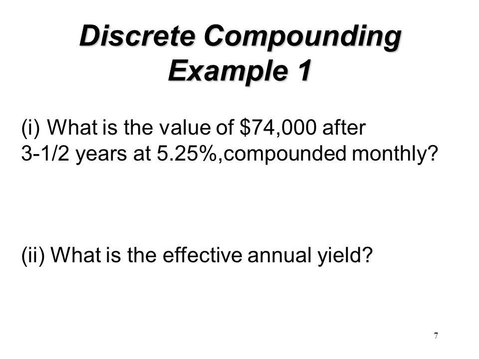 Discrete Compounding Example 1