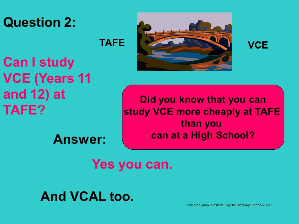 Did you know that you can study VCE more cheaply at TAFE
