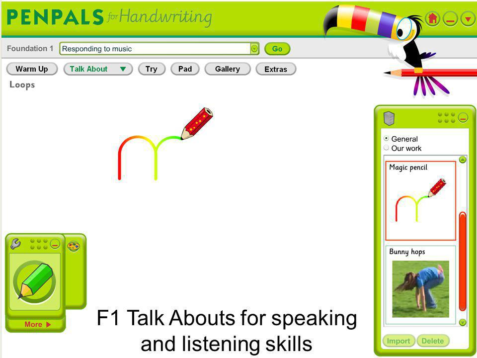 F1 Talk Abouts for speaking and listening skills