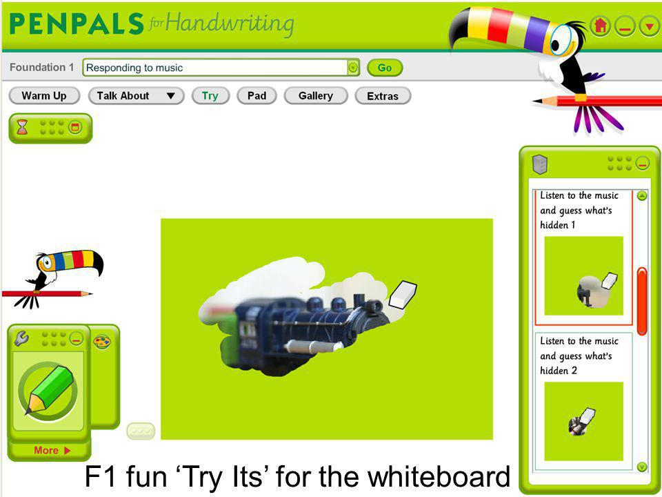 F1 fun 'Try Its' for the whiteboard