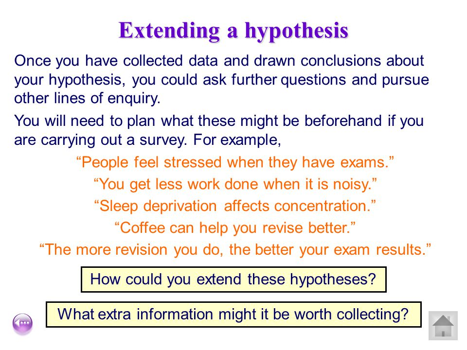 Extending a hypothesis