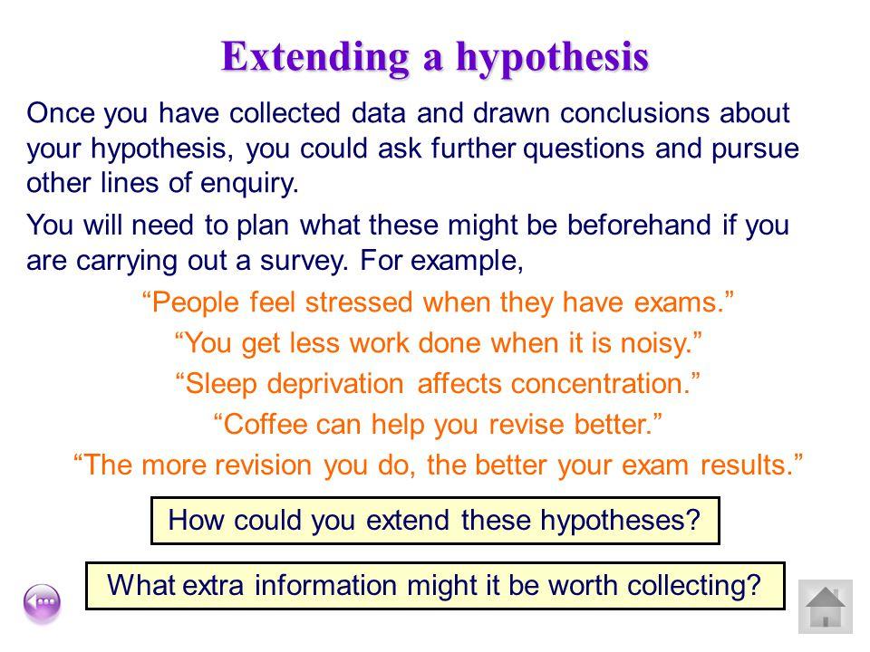 Extending a hypothesis