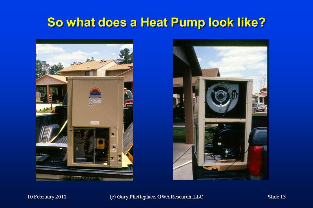 So what does a Heat Pump look like
