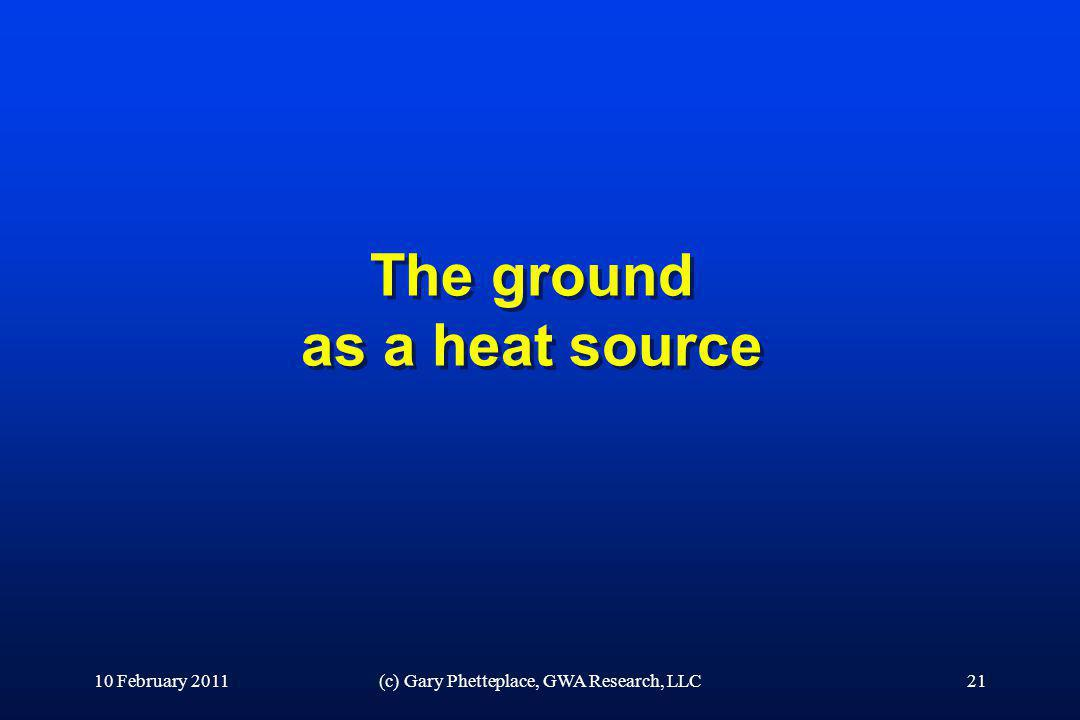 The ground as a heat source