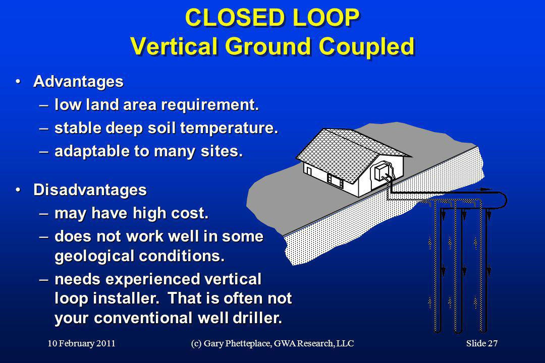 CLOSED LOOP Vertical Ground Coupled