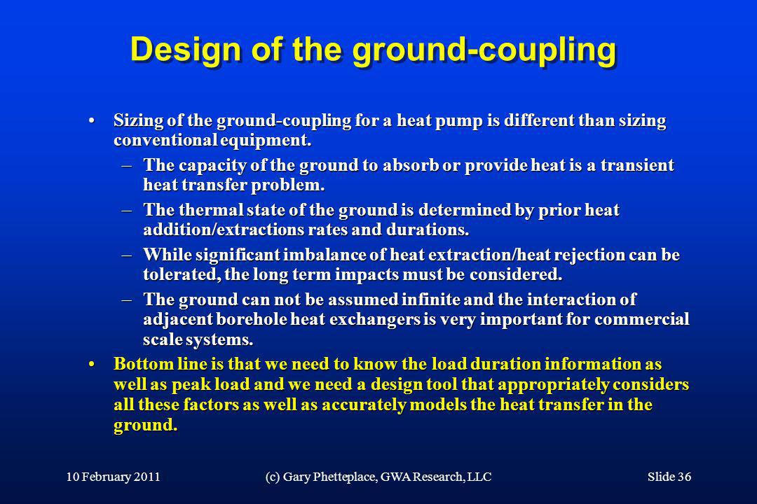 Design of the ground-coupling