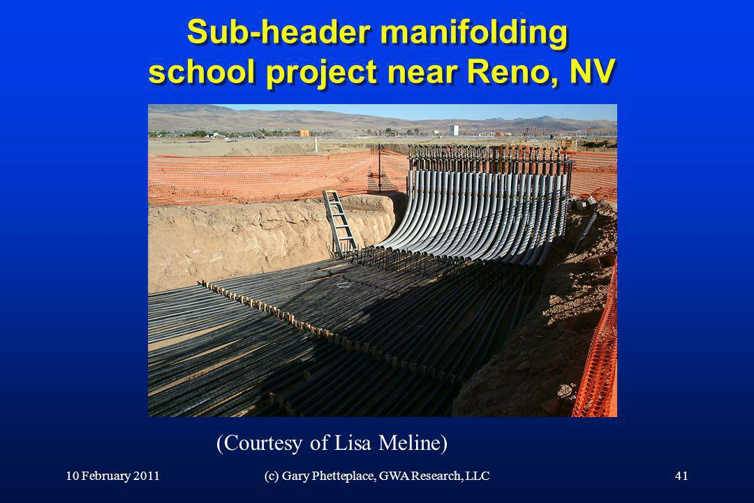 Sub-header manifolding school project near Reno, NV