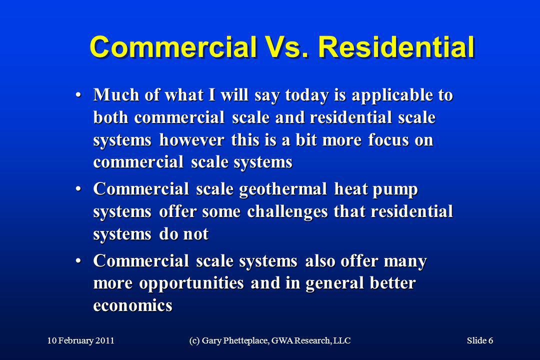 Commercial Vs. Residential