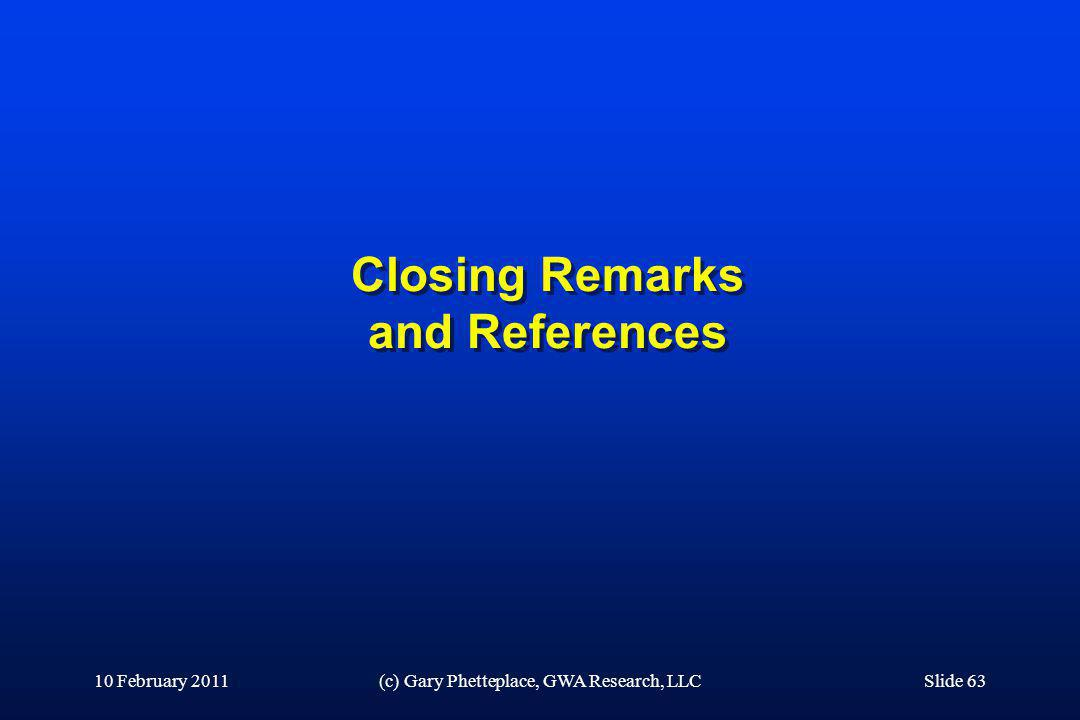 Closing Remarks and References