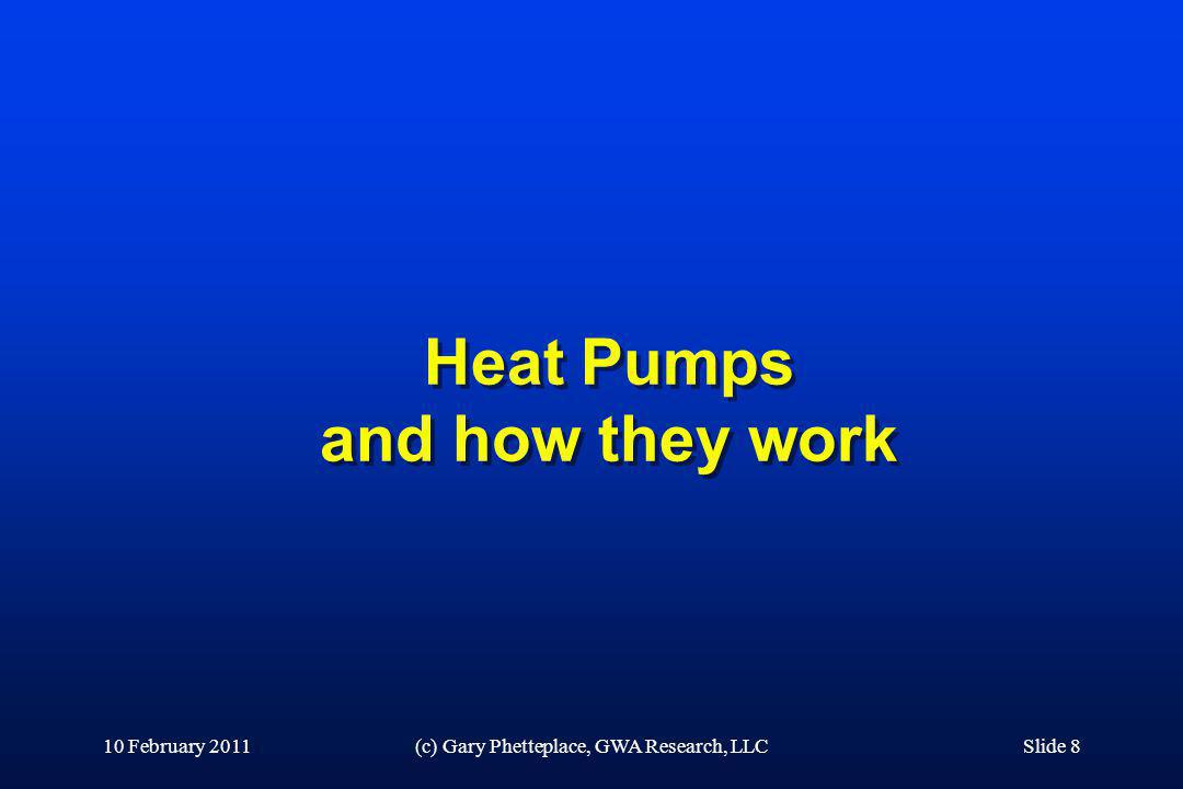 Heat Pumps and how they work