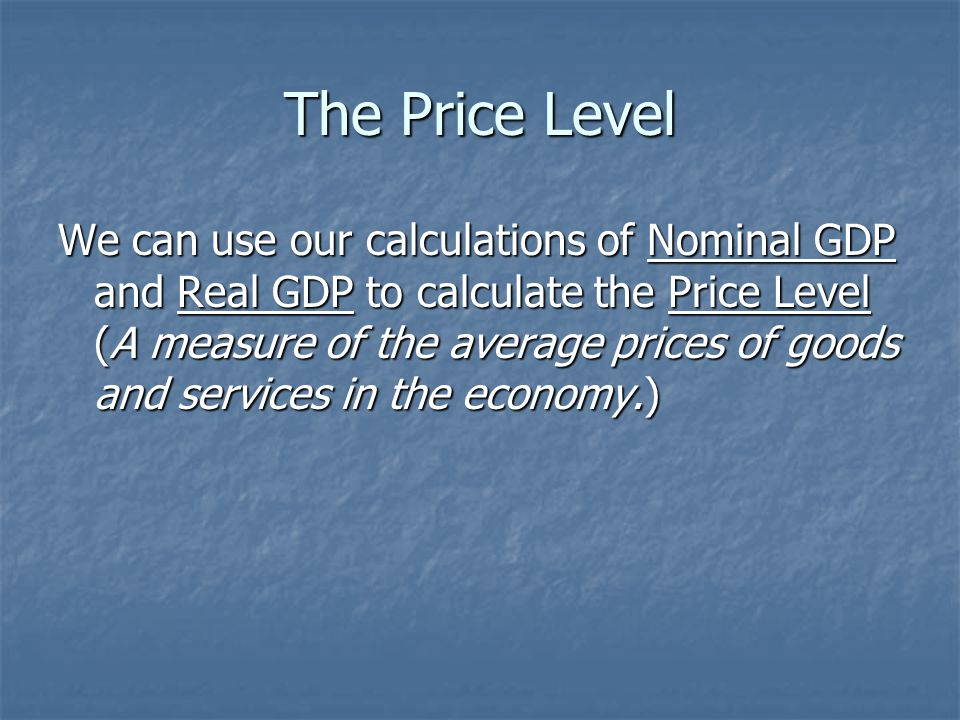 The Price Level