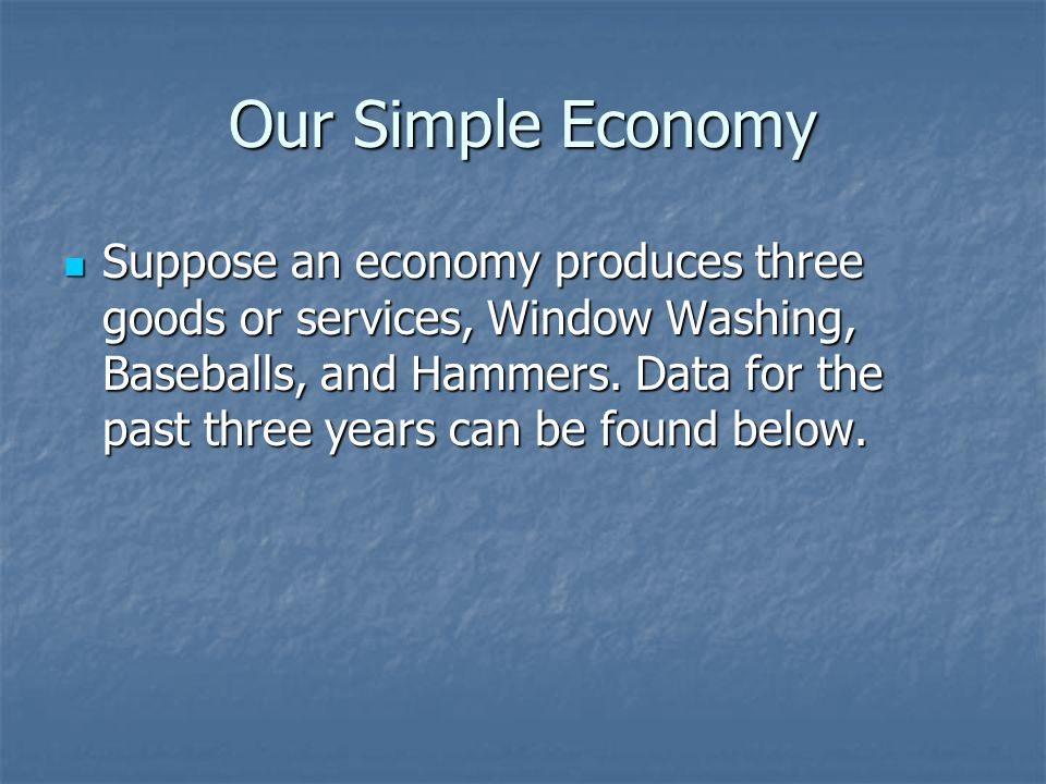 Our Simple Economy