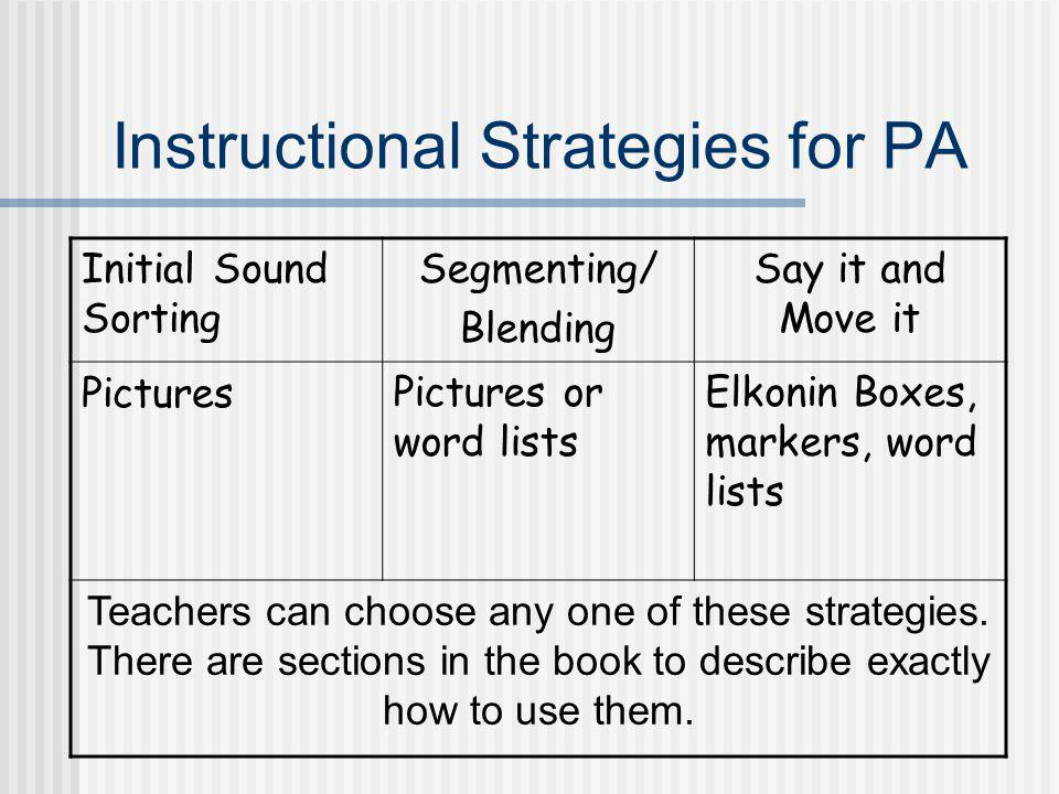 Instructional Strategies for PA