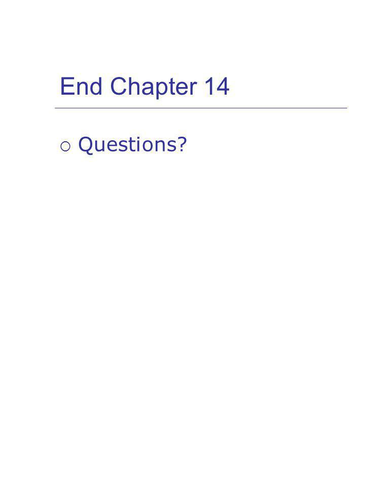 End Chapter 14 Questions
