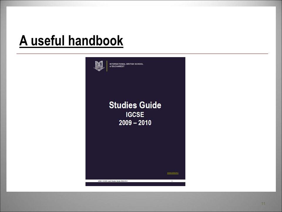 A useful handbook
