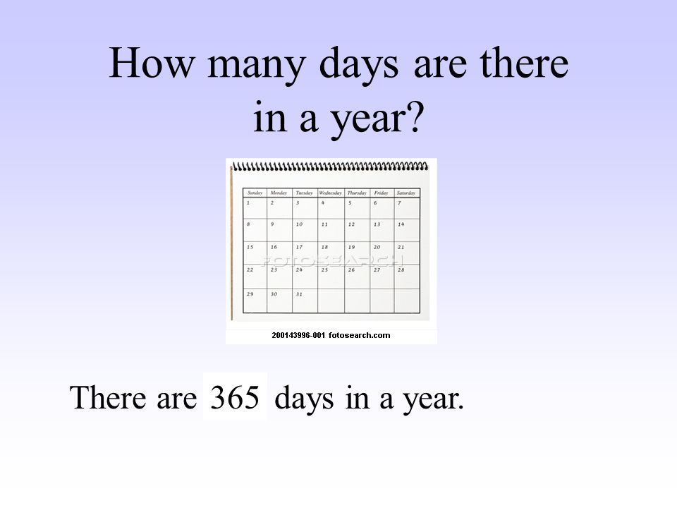 How many days are there in a year