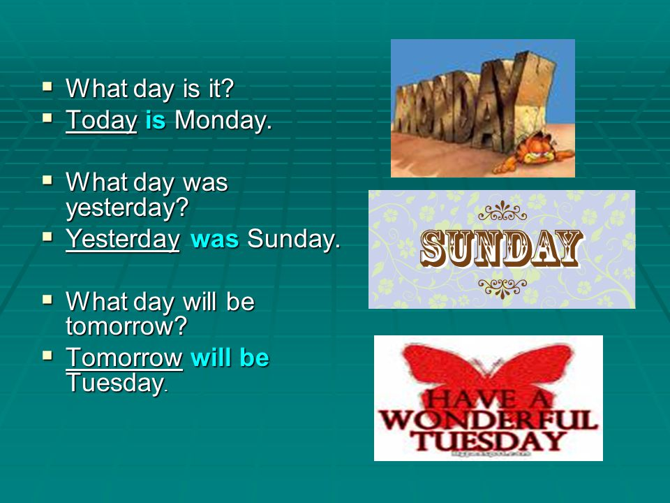 Days of the Week and Months of the Year - ppt video online ...