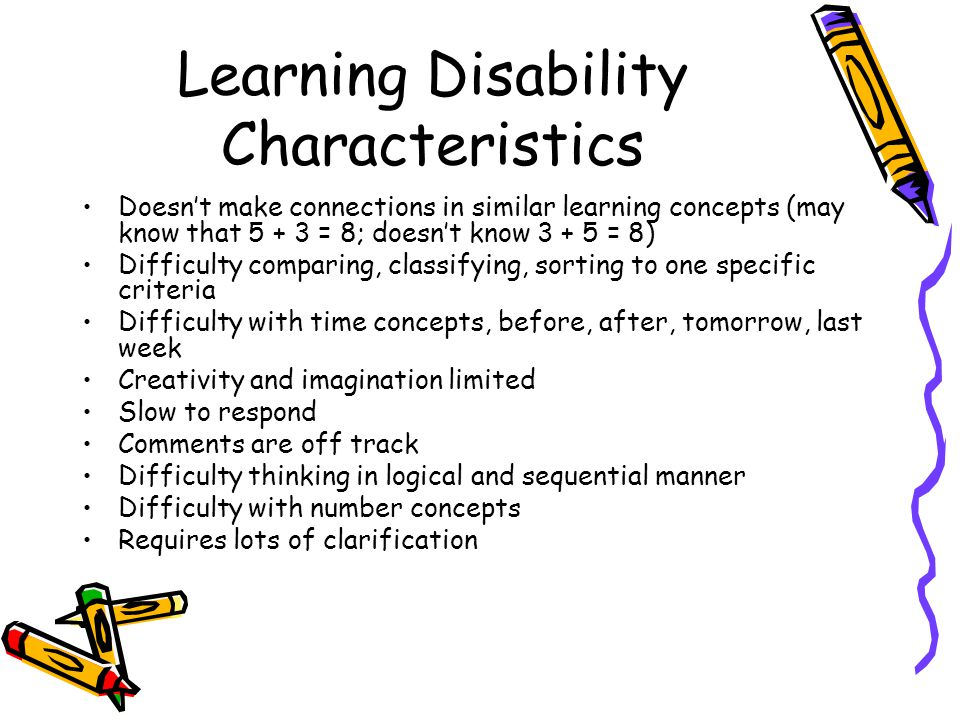 Learning Disability Characteristics
