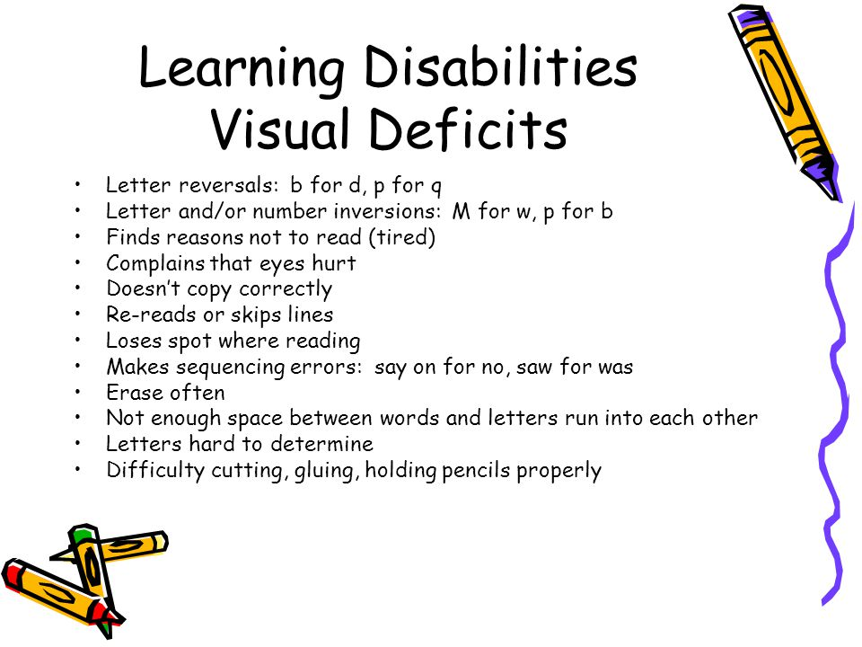 Learning Disabilities Visual Deficits