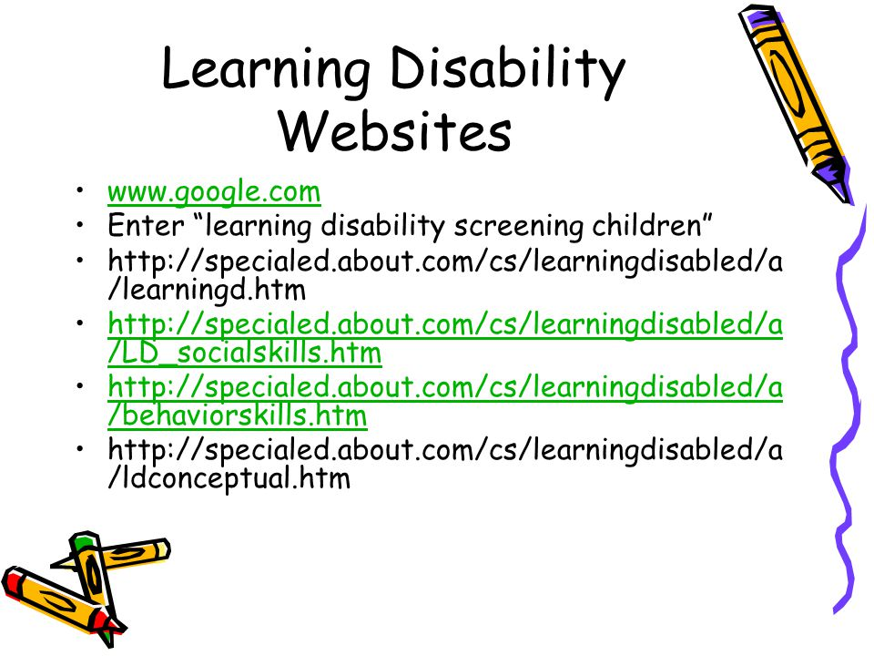 Learning Disability Websites