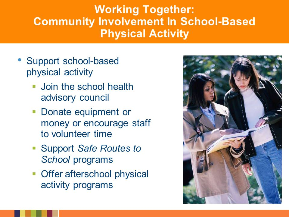 Working Together: Community Involvement In School-Based Physical Activity