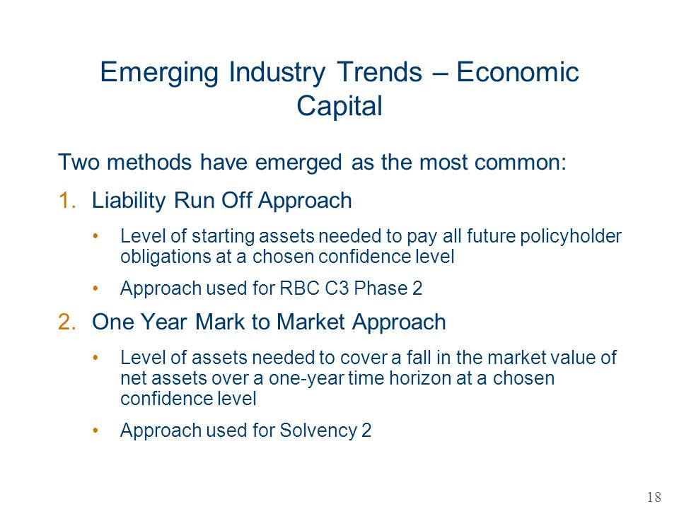 Emerging Industry Trends – Economic Capital
