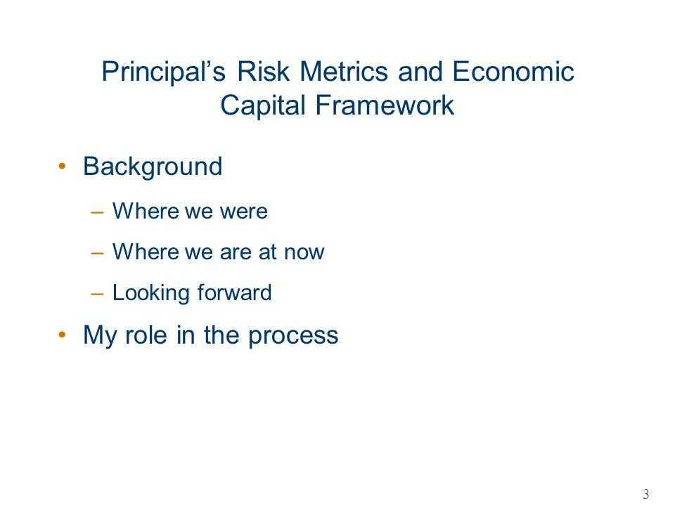 Principal's Risk Metrics and Economic Capital Framework