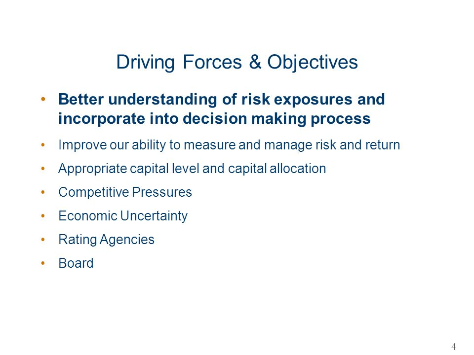Driving Forces & Objectives