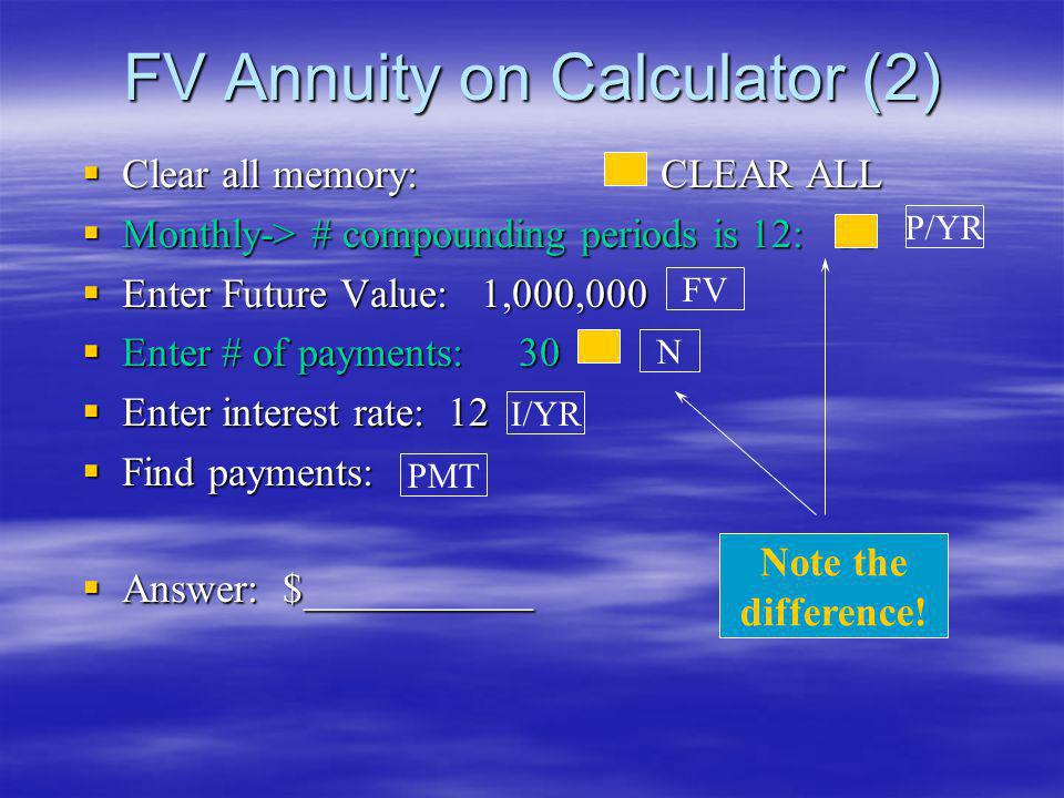 FV Annuity on Calculator (2)