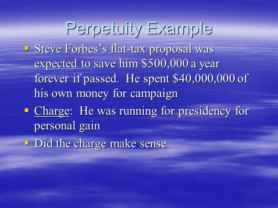 Perpetuity Example