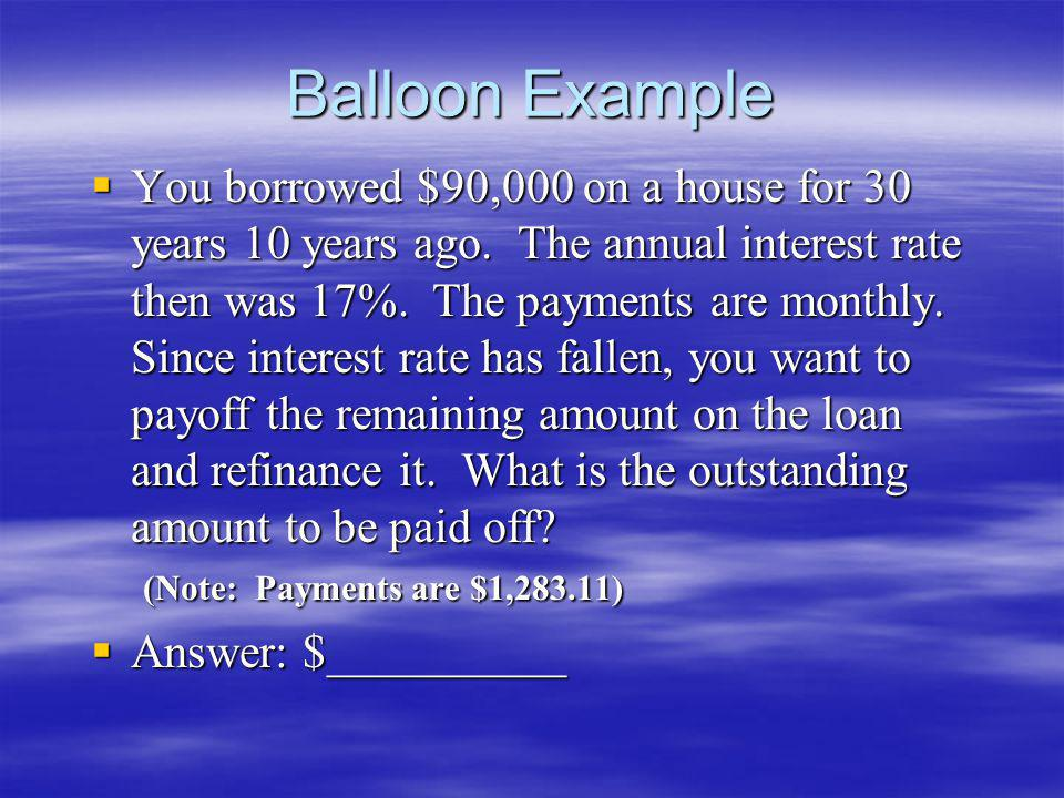 Balloon Example