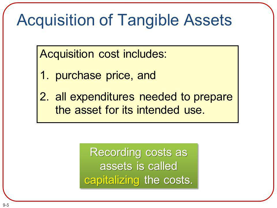 Acquisition of Tangible Assets