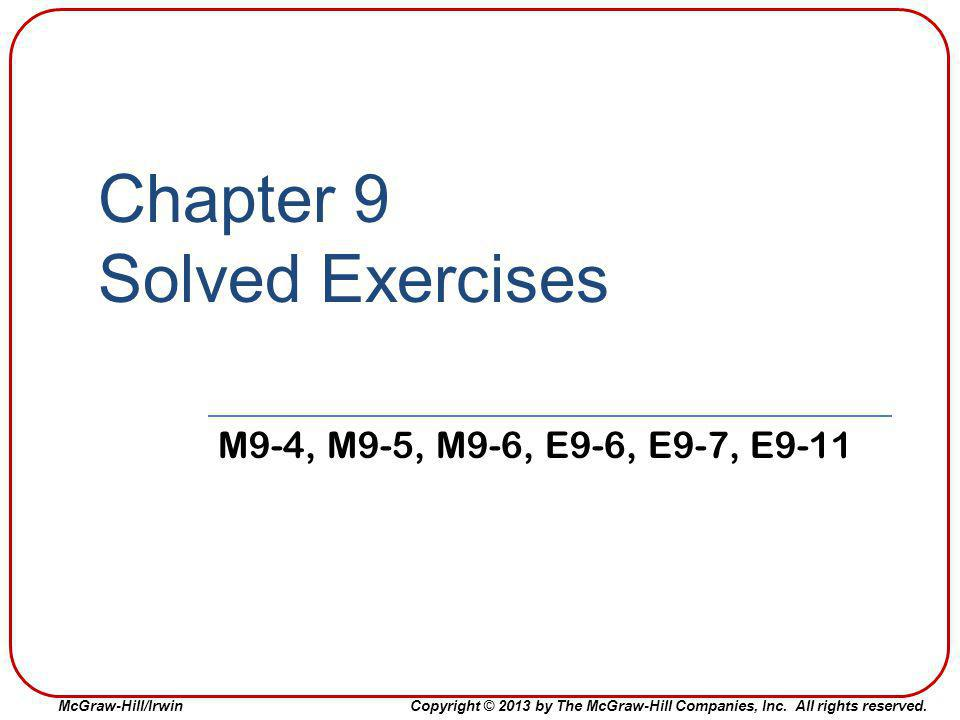 Chapter 9 Solved Exercises