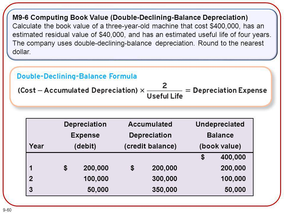 M9-6 Computing Book Value (Double-Declining-Balance Depreciation)