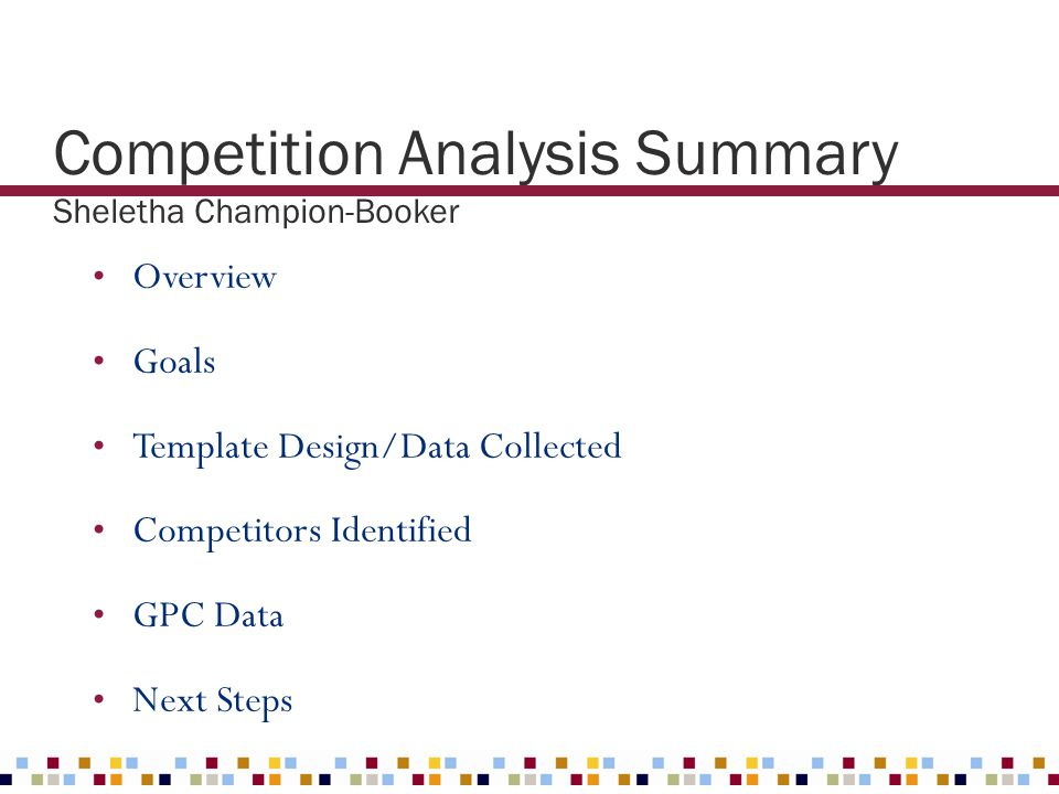 Competition Analysis Summary