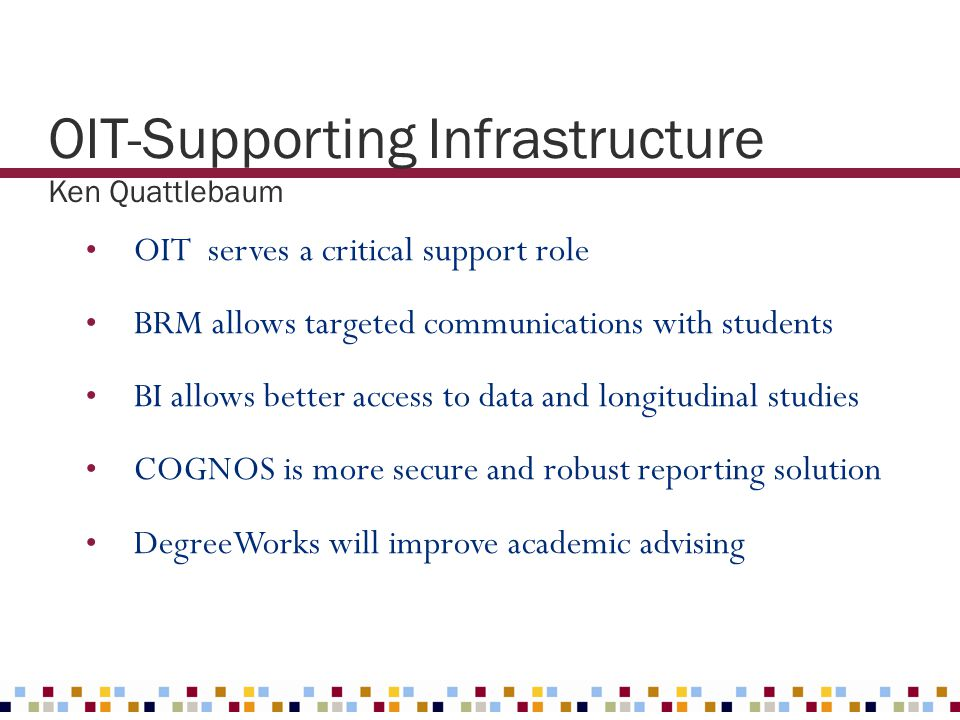 OIT-Supporting Infrastructure