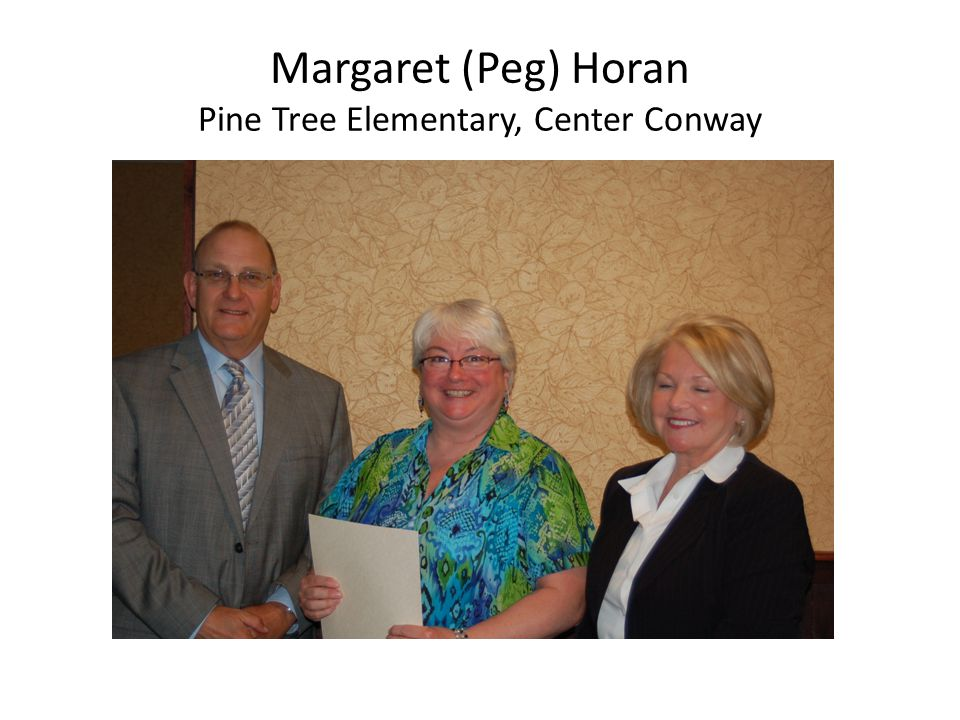 Margaret (Peg) Horan Pine Tree Elementary, Center Conway